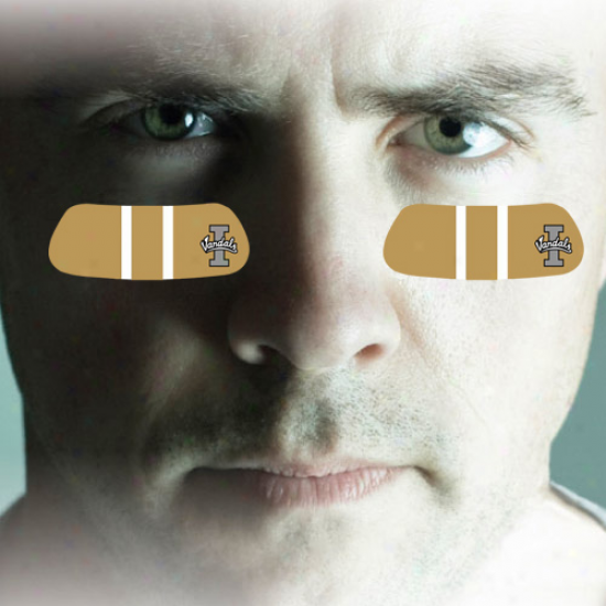 Idaho Vandals 2-pair Gold Team-colored Eye Black Strips