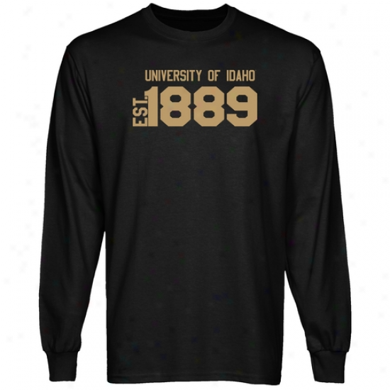 Idaho Vandals Black Est. Date Long Sleeve T-shirt