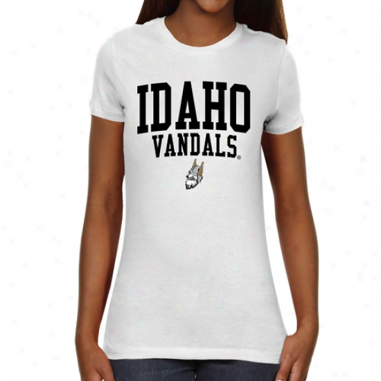 Idaho Vandals Ladies Team Arch Slim Fit T-shirt - Wbite