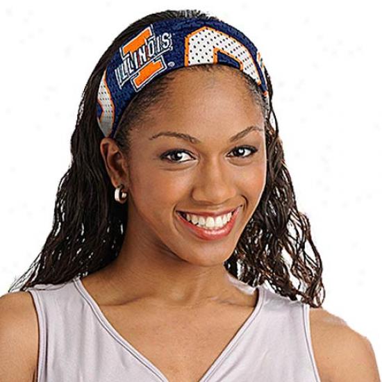 Illinois Figyting Illini Ladies Navy Blue Fanband Jersey Headband