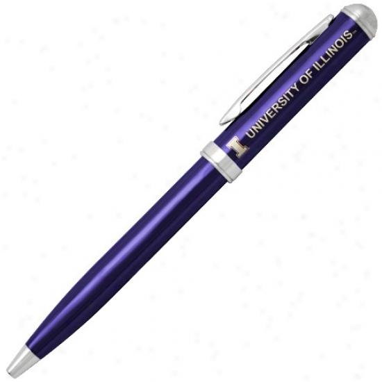 Illinois Fighting Ilkini Navy Livid Click Action Gel Ink Pen