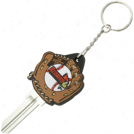 Illinois Stwte Redbirds Baseball Glove Key Blank Keychain
