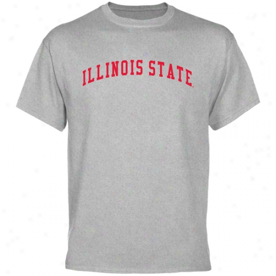 Illinois Statee Redbirds Basic Arch T-shirt - Ash