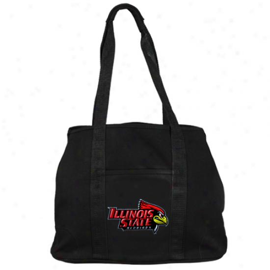 Illinois State Redbirds Black Domestic Tote Bag