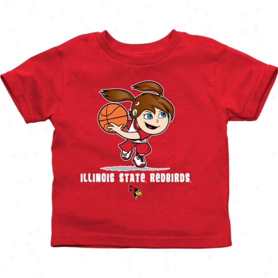 Illinois State Redbirds Toddler Girls Basketball T-shirt - Red