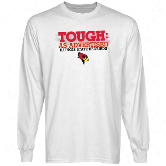 Illinois State Redbirds White Viewed like Advertised Long Sleeve T-shirt