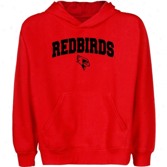 Illinois State Redbirds Youth Red Logo Arch Pullover Hoody