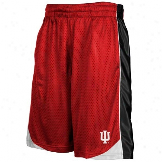 Indiana Hoosiers Crimson Vector Workout Shorts