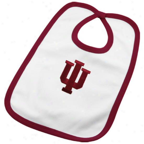 Indiana Hoosiers Infant White Team Logo Cotton-wool Bib