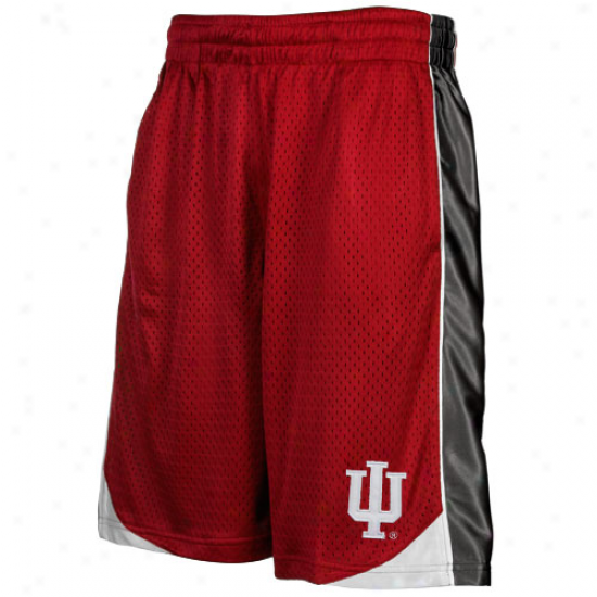 Indiana Hoosiers Youth Crimson Vector Workout hSorts