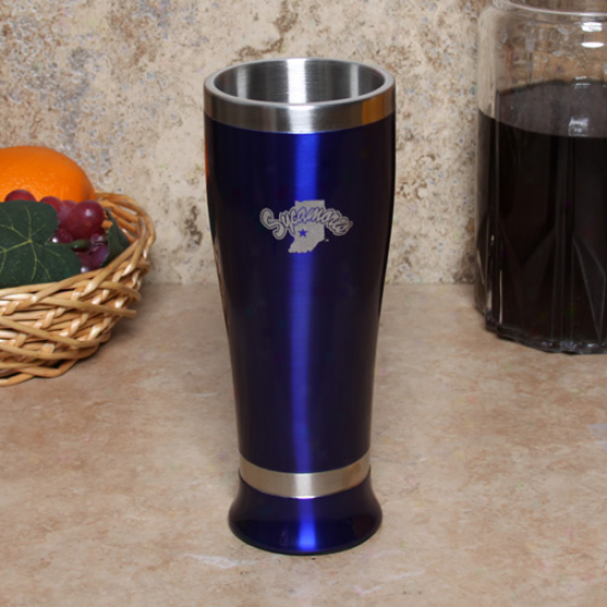 Indiana State Sycamores 16oz. Royal Blue Colored Pilsner Glass