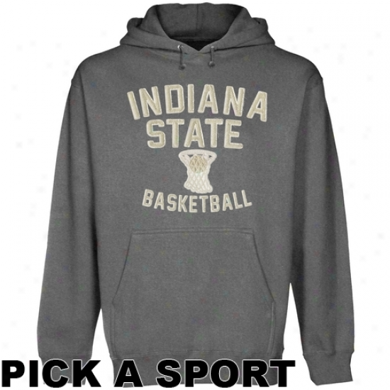 Indiana State Sycamores Legacy Pullover Hoodie - Gunmrtal