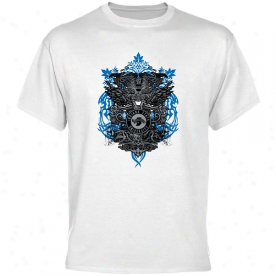 Indiana State Sycamores White Shield Of Arms T-shirt