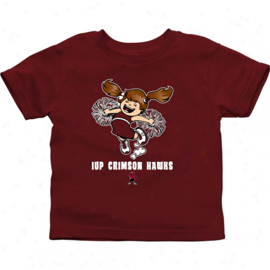 Indiana University Of Pennsylvania Crimson Hawks Infant Cheer Squad T-shirt - Crimson