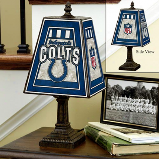 Indianapolis Colts Art-glass Table Lamp