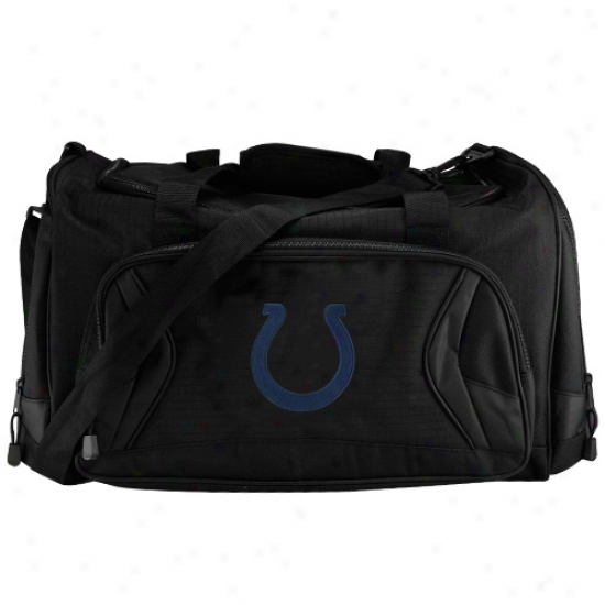 Indianapolis Colts Black Fly-by Duffel Bag