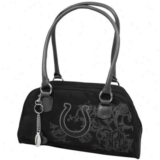 Indianapolis Colts Ladies Black Caprice Handbag