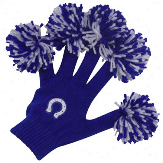 Indianapolis Colts Royal Blue Spirit Fingerrz