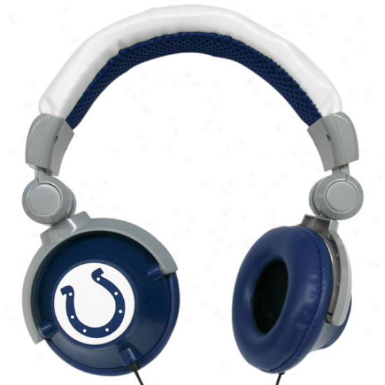 Indianapolis Colts Royal Blue-white Dj Over-ear Headphones