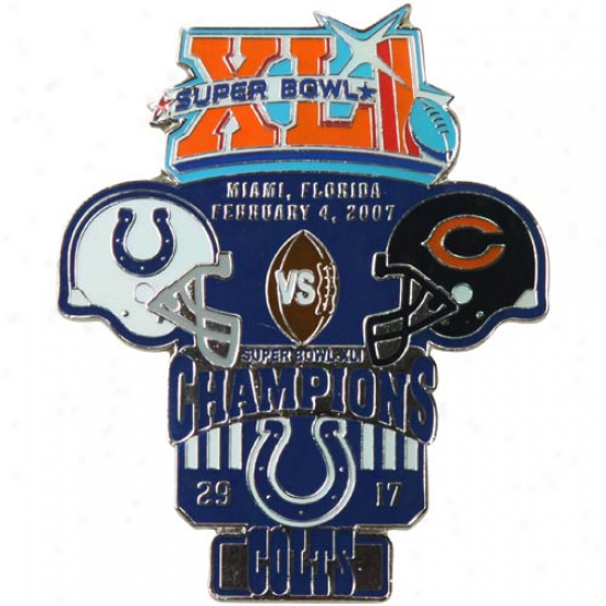 Indianapolis Colts Super Bowl Xli Collectors Pin