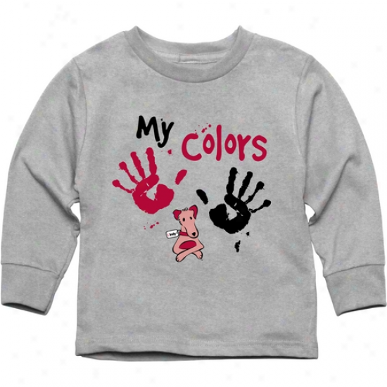 Indianapolis Greyhounds Toddler My Colors Long Sleeve T-shirt - Ash