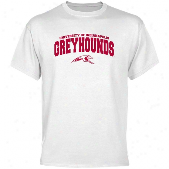 Indianapolis Grehhounds White Logo Bend  T-shirt