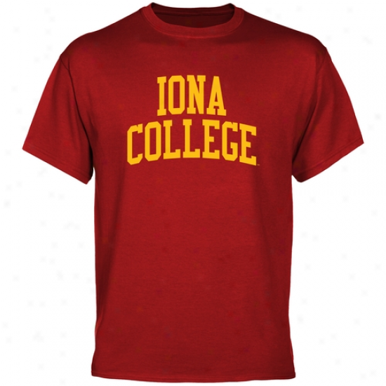 Iona College Gaels Basic Arch T-shirt - Cardinal