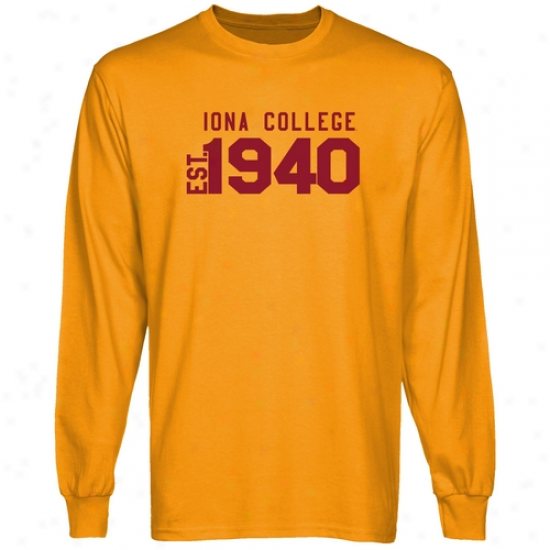 Iona College Gaels Gold Est. Date Long Sleeve T-shirt