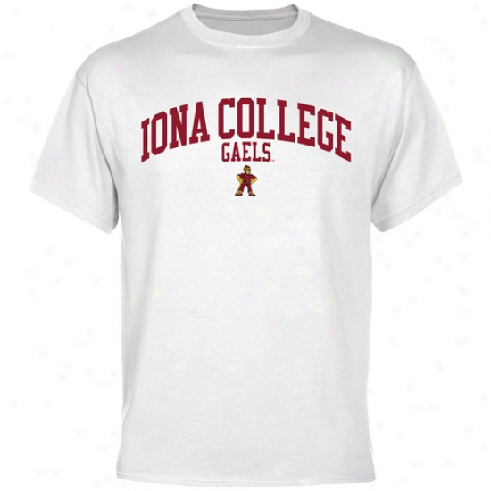 Iona College Gaels Team Arch T-shirt - White