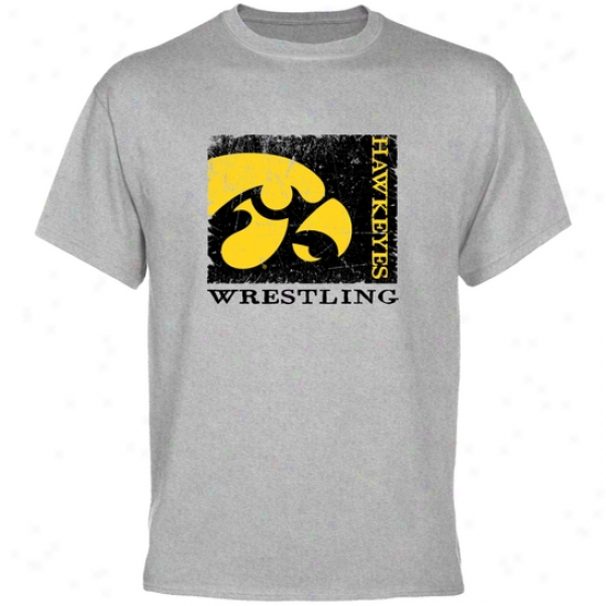 Iowa Hawkeyes Ash Sport Stamp T-shirt