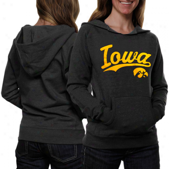 Iowa Hawkeyes Ladies Script One Hoodie - Black