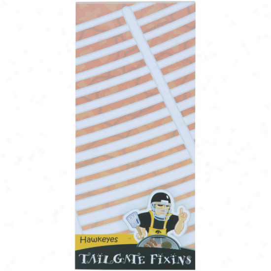 Iowa Hawkeyes Tailgate Fixins' Grocery Wish Magnetic Pad
