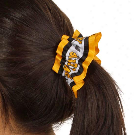 Iowa Hawkeyes Team Logo Hair Scrunchie