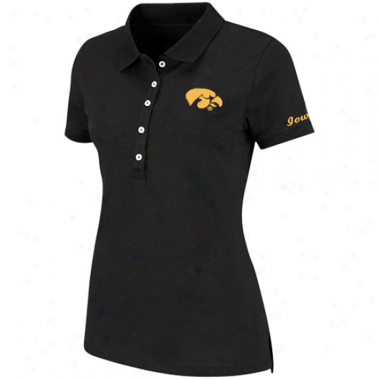 Iowa Hawkeyes Women's Vision Polo - Black