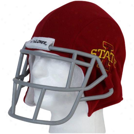 Iowa State Cycllones Cardinal Fanaticap Football Helmet Beanie