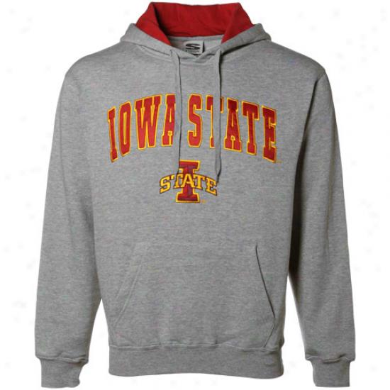 Iowa State Cyclones Gray Classic Twill Hoody Sweatshirt