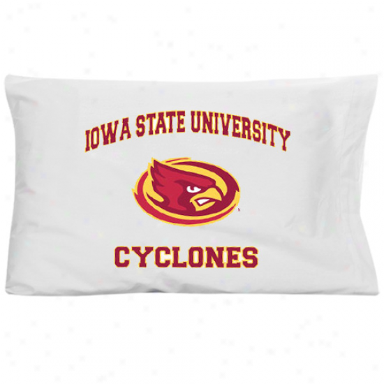 Iowa Pomp Cyclones White Traditional Piillow Case