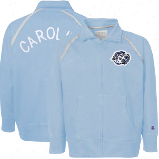 Izod North Carolina Tar Heels (unc) Carolina Dismal Distressed Full Zip Track Jacket