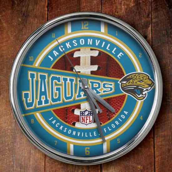 Jacksonville Jaguars 12'' Chrome Clock