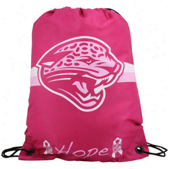 Jakcsonville Jaguars Hot Pink Hope 2010 Breast Cancer Awareness Drawstring Backpack