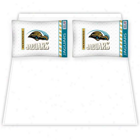 Jacksonville Jaguars Queen Size Sheet Set