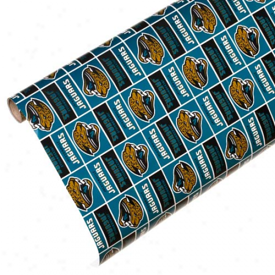 Jacksonville Jaguars Spirit Block Wrapping Paper