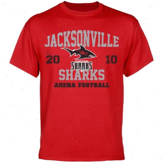 Jacksonville Sharks Established Team Color T-shirt - Red