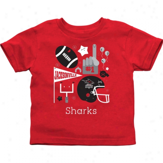 Jacksonville Sharks Infant Fanfare T-shirt - Red