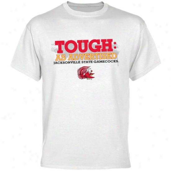 Jacksonville State Gamecocks White As Advertised T-shirt