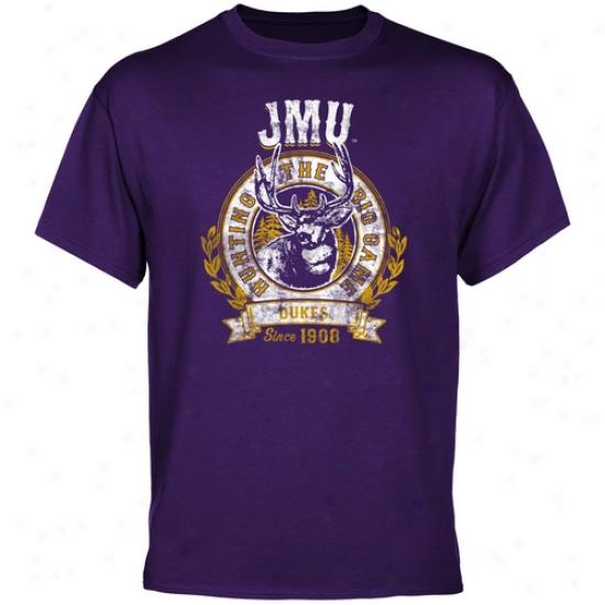 James Madison Dukes The Big Game T-shirt - Purple