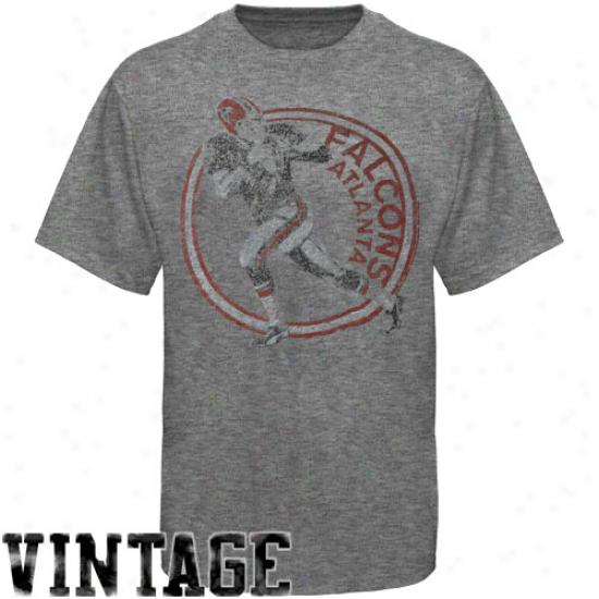 Junk Food Atlanta Falcons Vintage Crew Premium Tri-blend T-shirt - Grqy