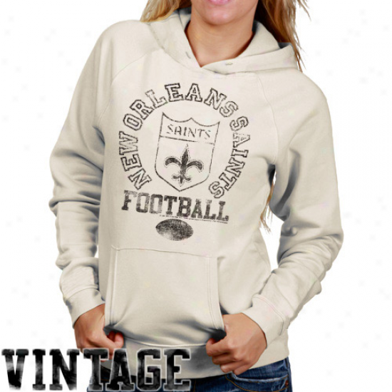 Junk Food New Orleans Saints Women's Triied And True Hoodie - Natural
