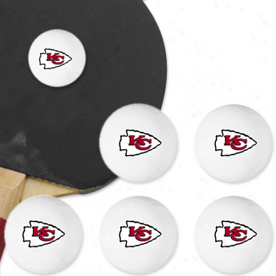 Kansas City Chiefs 6-pack Team Logo Table Tennis Balls