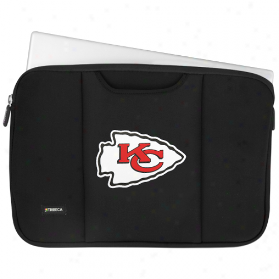 Kansas City Chiefs Black 15'' Laptop Sleeve